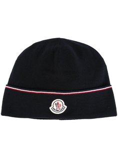 шапка-бини с контрастным логотипом Moncler
