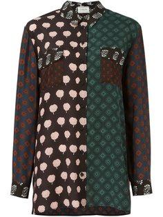 рубашка с контрастными панелями Lanvin