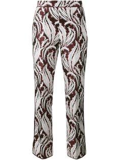 укороченные брюки с вышивкой Giambattista Valli