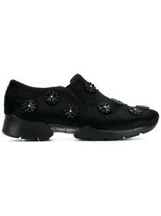 кроссовки с меховой отделкой Simone Rocha