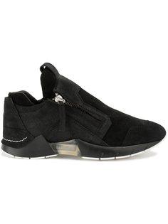 кроссовки на молнии с панельным дизайном Cinzia Araia