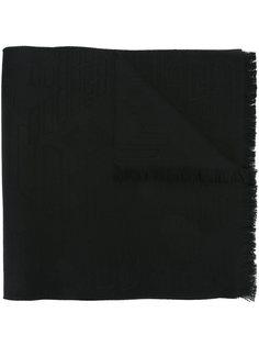 шарф с жаккардовым узором логотипа Emporio Armani