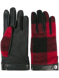 перчатки в шотландскую клетку Dsquared2
