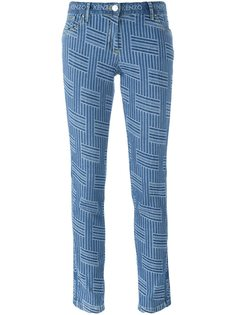 джинсы кроя слим NY Stripes Kenzo