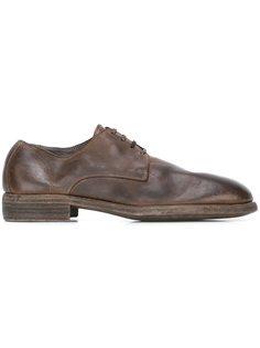 ботинки Дерби с потертой отделкой Guidi