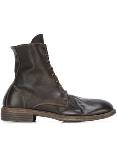 сапоги на шнуровке с потертой отделкой Guidi