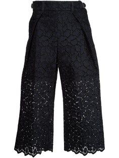 укороченные кружевные брюки  Sacai