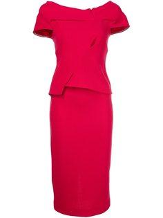 платье c V-образным вырезом  Roland Mouret