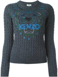 вязаный свитер Tiger  Kenzo