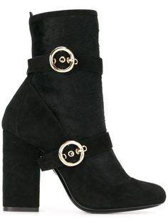 ботинки с ремешками на пряжке   Lanvin