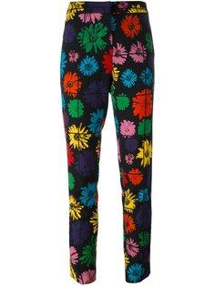 брюки с цветочным узором Moschino