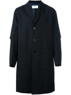 пальто с простроченной отделкой Oamc