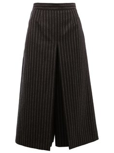 брюки-юбка в тонкую полоску Saint Laurent