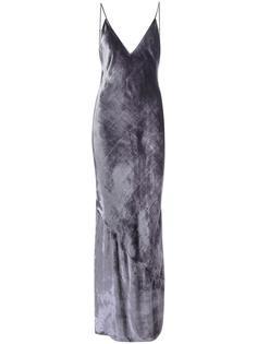 бархатное платье на бретелях  Bias  Fleur Du Mal