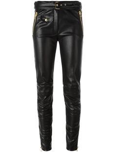 брюки из искусственной кожи Moschino