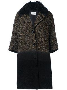 вязаное пальто с рукавами три четверти Yves Salomon