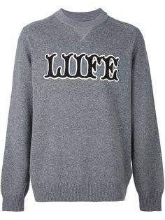 свитер свободного кроя  Sacai