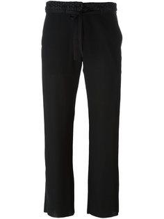 укороченные брюки Ann Demeulemeester Blanche