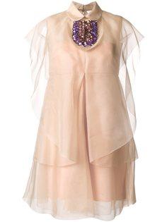 декорированное платье Delpozo
