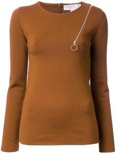 свитер с декоративной молнией Stella McCartney