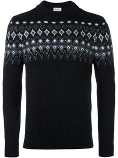 """трикотажный свитер с узором """"фер-айл"""" Saint Laurent"""