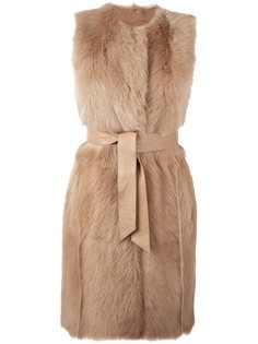 пальто с поясом без рукавов Drome