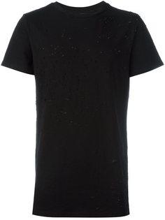 футболка с рваными деталями   Amiri