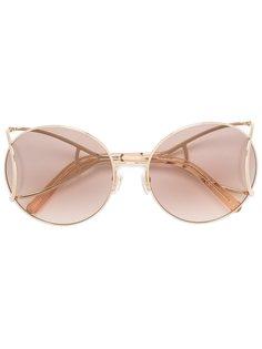 объемные солнцезащитные очки  Chloé Eyewear