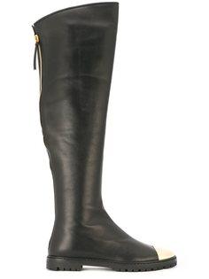 сапоги с контрастным носком Giuseppe Zanotti Design