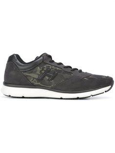 кроссовки с камуфляжными панелями Hogan