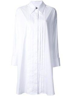 платье-рубашка с плиссировкой Mm6 Maison Margiela