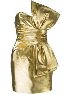 платье мини с бантом Saint Laurent