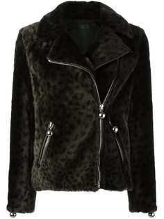 куртка с леопардовым принтом   Drome