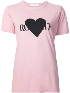 футболка с принтом логотипа  Rodarte