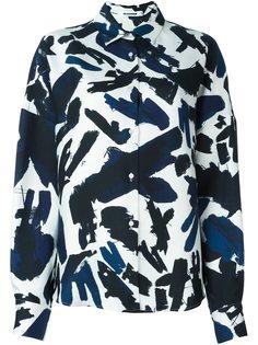 рубашка с абстрактным узором Jil Sander
