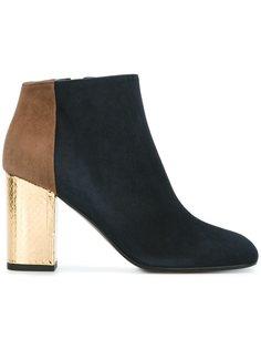 ботинки по щиколотку на контрастном каблуке Marni