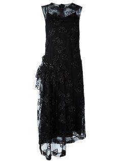 платье с полупрозрачным верхним слоем Simone Rocha