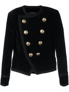 укороченный бархатный пиджак Spencer Saint Laurent