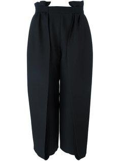 широкие укороченные брюки со складками Fendi