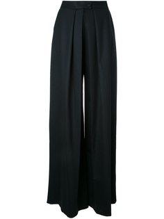 широкие брюки в тонкую полоску Martin Grant