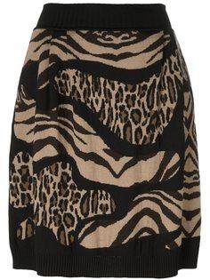юбка с животным принтом Alberta Ferretti