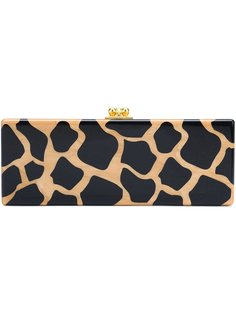 прямоугольный клатч с леопардовым принтом Edie Parker