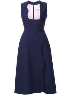 расклешенное платье Roksanda