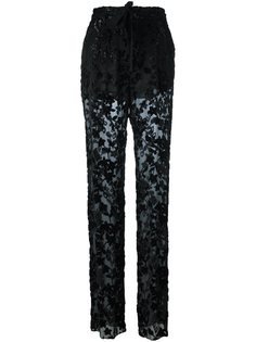 прозрачные брюки Etro