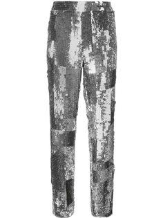 декорированные брюки с пайетками Chloé