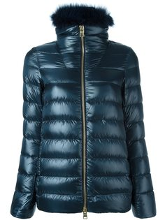 куртка-пуховик с меховой отделкой Herno