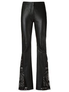 leather flared trousers Martha Medeiros