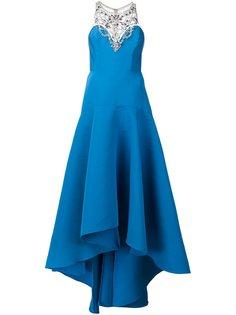 декорированное вечернее платье Marchesa Notte