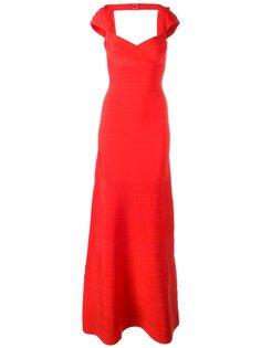 вечернее платье с глубоким вырезом Hervé Léger
