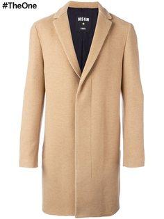 пальто с потайной застежкой MSGM